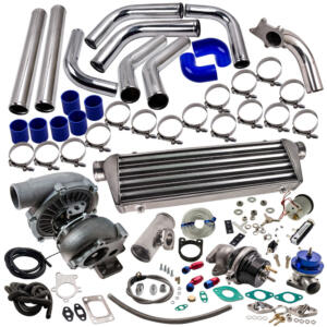 T3/T4 T3 T4 T04E Universal Turbo charger Kit for Wastegate Intercooler Piping 25PC
