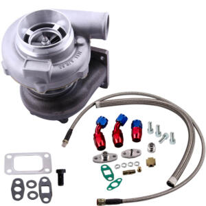 GT30 GT3037 GT3076 Turbo charger 500HP 0.82 A/R + Oil Drain Return FEED Line kit