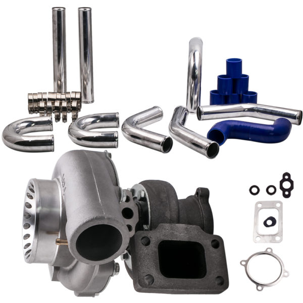 Universal GT35 GT3582 Turbocharger Turbo Piping Pipe Kit T3 AR.70/63 Anti-Surge