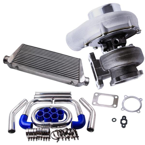 Universal GT3582 Intercooler Turbo Piping Pipe Kit  T3 AR.70/63 Anti-Surge
