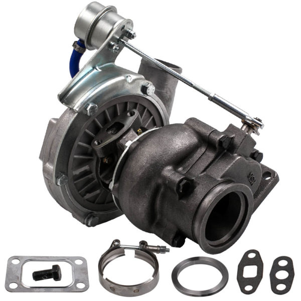 T3/T4 T04E V-BAND Turbocharger Turbo .63 A/R .5A/R Internal Wastegate Universal Turbo