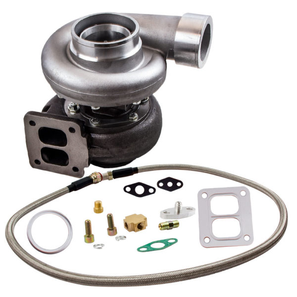 GT45 Universal Turbo Turbocharger T4 V-BAND 600+HP Boost Oil Feed Inlet Line