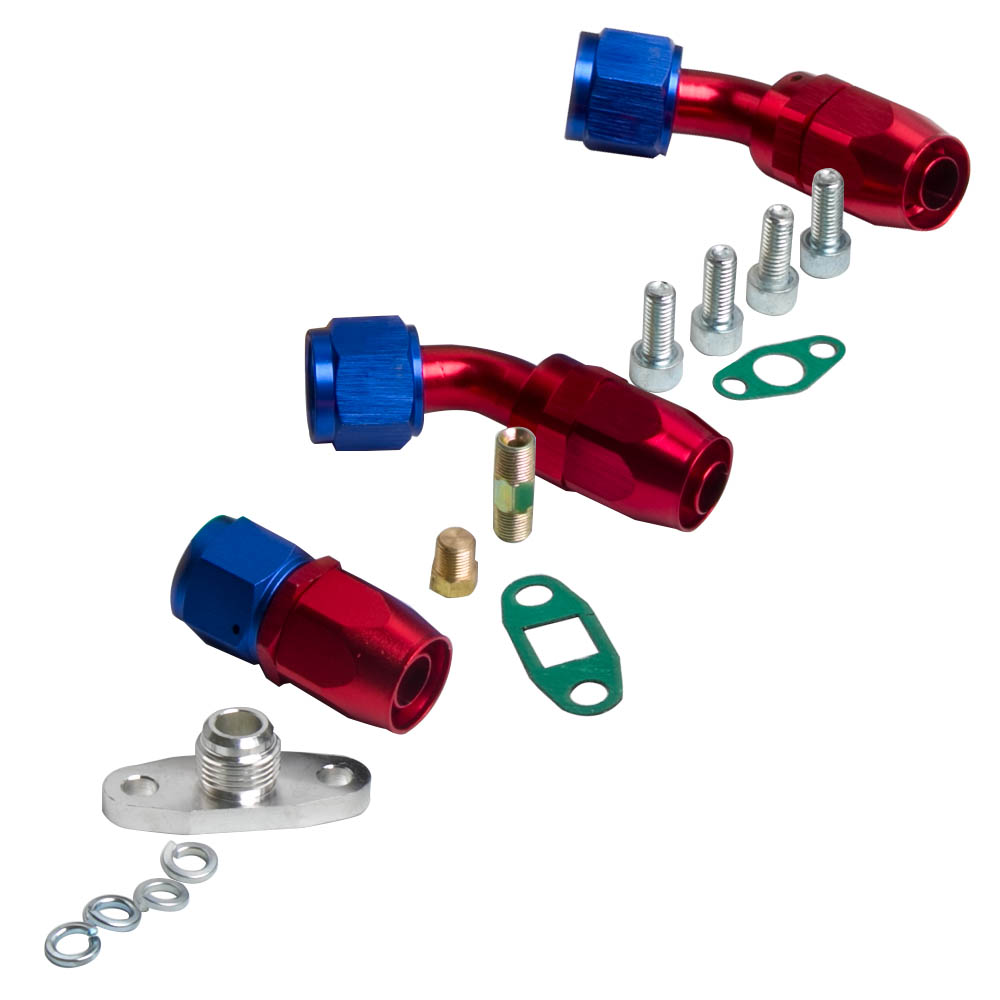 Stage III T04E T3/T4 Turbo Charger + Oil Feed + Drain Line Kit
